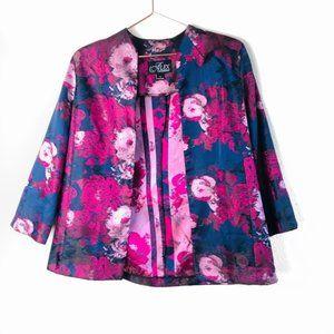 EUC Alex Evenings Vintage Purple Floral Blazer